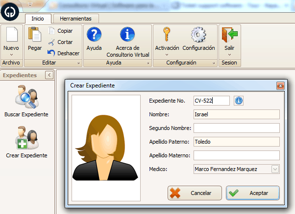 Software de gestión de servicios médicos