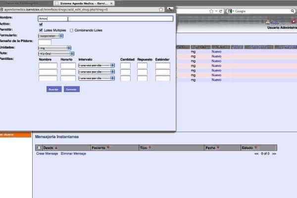 Software de gestión de servicios médicos 2